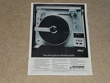 Mitsubishi LT-5v Vertical Turntable Ad, 1980, Article, 1 page, Very Rare!