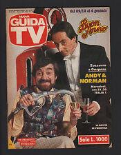 GUIDA TV MONDADORI 52/1991 ZUZZURRO E GASPARE TV LOCALI TELECAMPIONE TELENORD