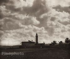1925 Vintage JERICHO Mosque Wall Landscape ISRAEL Palestine Religion Photo Art