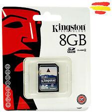 TARJETA MEMORIA 8GB KINGSTON SD HC USB 8 GB ORIGINAL SDHC Nº 16 CAMARA KS8C4