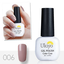 UKIYO 8ml NUDE SERIE Immersione OFF UV GEL NAIL POLISH TOP BASE COAT Gelpolish 006