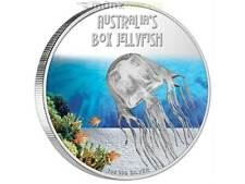 1 $ Deadly & Dangerous 2011 Box Jellyfish Würfelqualle Tuvalu 1 oz Silber PP