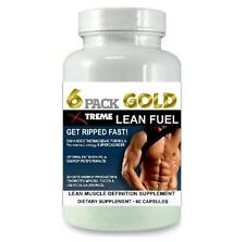 6 Pack Fat Burner Lean Muscle Energy Growth Bodybuilding Burn Fat X Ripped Abs