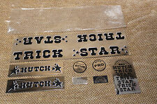 NOS OLD SCHOOL BMX HUTCH STICKER SET - TRICK STAR