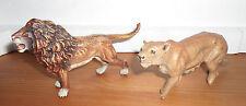 vintage lot 2 prewar Lineol roaring lion animal figures Lineol Elastolin