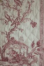 Antique French Chinoiserie Toile Bed bed curtain 18th century c1760