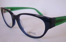 MATTISSE SQ 112 C4 Navy Blue/Green Eyeglasses Frame 52-19 Ladies Medium ITALY