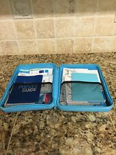 Weight Watchers DELUXE Member KIT Blue Case DINING OUT & COMPLETE FOOD Companion