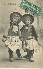 CARTE POSTALE / POSTCARD / BRETAGNE LOT DE 3 CARTES COSTUME ENFANT NOEL ETC....