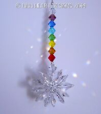 m/w Swarovski Crystal Mini Suncatcher Chakra Colors Rainbows Lilli Heart Designs