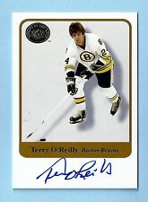 TERRY O'REILLY 2001 FLEER GREATS OF THE GAME SIGNATURE AUTOGRAPH AUTO