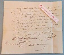 Reçu Manuscrit 1868 famille de LACOUTURE Draguignan - de Puysegur