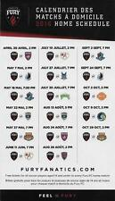 Ottawa Fury FC 2016 NASL Football Soccer Regular Season Magnet Schedule
