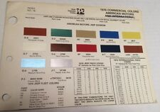 1976 COMMERCIAL COLORS AMERICAN MOTORS PAINT SAMPLES