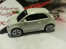 2013 '14 '15 FIAT 500 WHITE CUSTOM ~ KeY RiNg~ KeY ChAin~ CHAIN PULL~NEW ITEM!