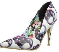 Iron Fist Third Dimension White Black Multi New Womens Hi Heels Court Shoes