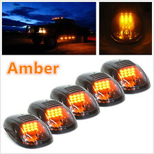 Amber Color 5 Pcs Vehicle Pickup Cab Roof Top Signal Marker Lights Running Lamps
