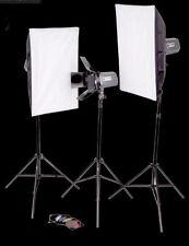 Studioset, Studioblitzanlage mit viel Zubehör - 3x 180 WS