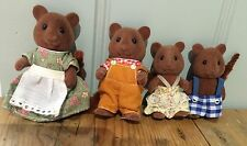 Sylvanian Families Vintage 1990s TOMY OAKWOOD SQUIRREL  FAMILY of FOUR figures