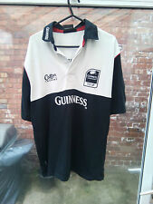 GUINNESS PREMIERSHIP PREMIER RUGBY COTTON TRADERS BLACK&WHITE RUGBY SHIRT S VGC