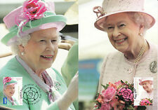 Australia 2014 MAXI Queen's Birthday 2v Set Cards Elizabeth II Royal Ascot Hats