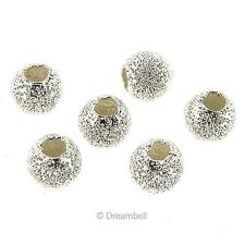 10 Sterling silver Round Laser Stardust Bead Spacer 3mm