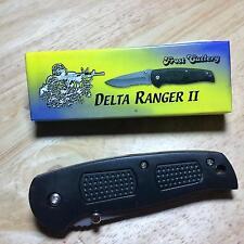 """Frost Delta Ranger II Tactical Folding Linerlock 4"""" Pocket Knife w/Clip F15387B"""