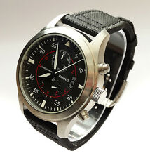 Parnis Aviator Pilots 46mm CHRONOGRAPH Military Army Vintage Style Quartz Watch