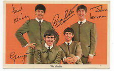 1964 Beatles Promotional Postcard of the Fab Four w/ Faux Signatures