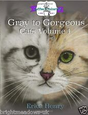 Gorgeous Cats Greyscale Adult Colouring Book Creative Art Pussy Kitty Animal NEW