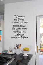 God Grant Me the Serenity Prayer Wall Sticker Wall Art Vinyl Decal Religious