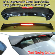 08-14 Impreza 5dr STi Style Roof Spoiler Wing (Carbon) + Red LED