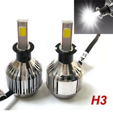2X 120W H3 LED Headlight Fog Light Bulb 6000K White Car Head lamp Conversion Kit