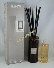 ESTEBAN vase diffusor duft haus CEDRE zeder 75ml a essstäbchen mit Vase glas