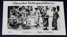 PHOTO CHOCOLAT DELESPAUL-HAVEZ 1950 JAPON ASIE TOKYO ENFANTS COSTUMES  NIPPON
