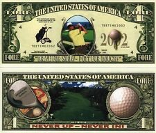 Le GOLF - BILLET MILLION DOLLAR US ! Collection Sport Club Balle Green Tee 4