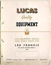 LUCAS LEA FRANCIS sei LUCE Electrics-Attrezzature Auto & pezzi di ricambio -1950 - ce560