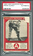 1933 V252 Canadian Gum FRANK KING CLANCY PSA AUTHENTIC