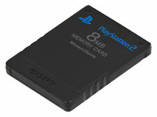 * Playstation 2 * OFFICIAL SONY BLACK 8MB MEMORY CARD * PS2 * NEW
