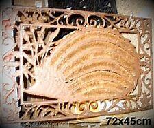 Fußabtreter Eisenmatte Kokos Schmutzfänger fein ziseliert Einzelstück Vintage