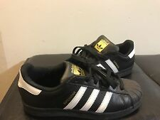 Adidas Originals Superstar Foundation Shell Toe Black/White/Gold Women's size 7