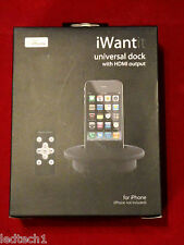 I Want It Universal Dock for iPhone 4/4s & 3Gs *** Brand New & Boxed ***