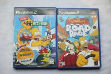 the simpsons hit and run & road rage  playstation 2 - ps2 games