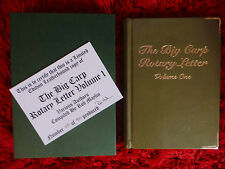 Very Rare Leatherbound  - The Big Carp Rotary Letter Volume 1 with certificate