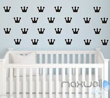 49 pcs Prince Princess crown Wall Stickers Decals Vinyl Decor Kids Nursery Art