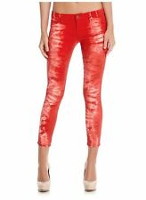 GUESS by Marciano Women's No 61 Cropped Red Tie Dye Wash Jeans sz 25