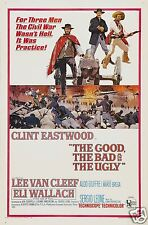 "The Good The Bad & The Ugly Clint Eastwood Spaghetti Western 12x8"" Poster"