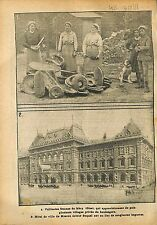 Boulangère Pain Mery Oise/Tverskoy District Moscow Russia WWI 1918 ILLUSTRATION