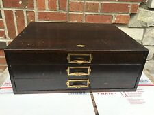 Antique WatchMakers Swartchild & Company Wood Cabinet 3 Drawer.