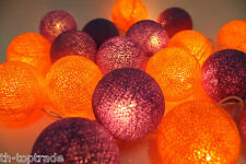 Happy Color Mix 20 Cotton Ball String Lights / Fairy Lights Wedding